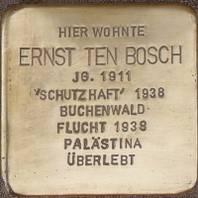 Stolperstein für Ernst ten Bosch