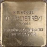 Stolperstein für Dr. Walter Rémi