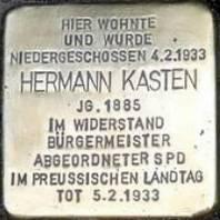 Stolperstein für Hermann Kasten