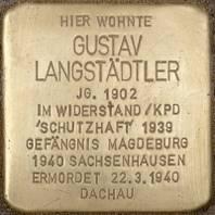 Stolperstein für Gustav Langstädtler