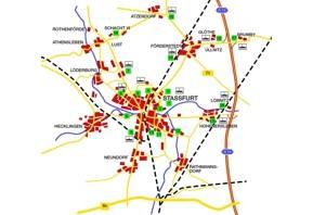 Industrie- und Gewerbegebiete in Staßfurt und den Ortsteilen - Übersicht