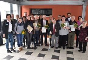 Der Allgemeine Behindertenverband in Sachsen-Anhalt hat in Schönebeck Ehrenpreise vergeben. Alle Geehrten und Laudatoren sind hier zu sehen. [(c) Ulrich Meinhard]