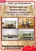 Plakat - Schiffsmodelle und Buddelschiffe