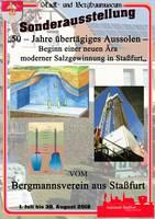 Plakat - 50 Jahre übertägiges Aussolen – Beginn einer neuen Ära moderner Salzgewinnung in Staßfurt