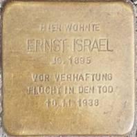 Stolperstein für Ernst Israel