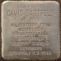 Stolperstein für David Bartfeld