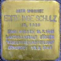 Stolperstein für Edith Inge Schulz
