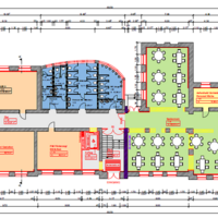 Entwurfsplanung für das Erdgeschoss der Uhlandschule
