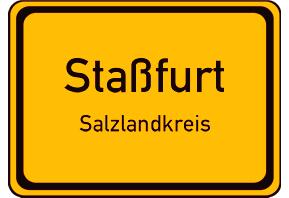 Ortsschild Staßfurt