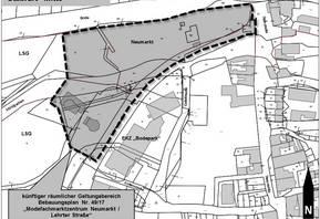Lageplan mit räumlichem Geltungsbereich des Bebauungsplanes Nr. 49/17